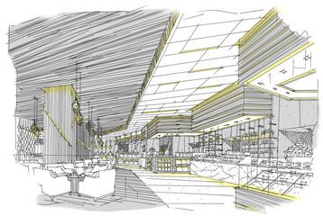 sketch design hotel,interior design,hotel,Restaurants