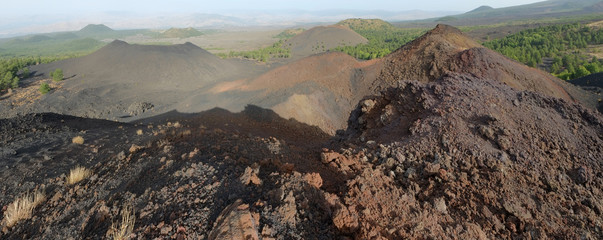 Volcanic Crater In Etna National Park, Sicily