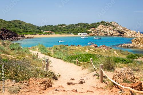 Leinwanddruck Bild Cala Pregonda, Menorca