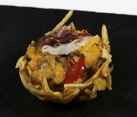 ratatouille tart with ham