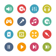 Media center Icons -- Fresh Colors Series