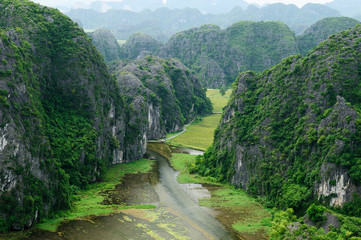 Tam Coc - Bích Dong, tourist destination near the Ninh Binh.