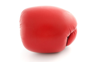 boxing glove isolated on white front view