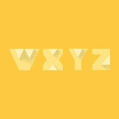 W X Y Z - Modern Transparent Alphabet with Noise Shadow