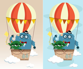 Monster In Air Balloon