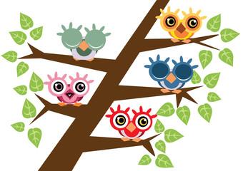 ptaki na drzewie