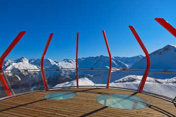 Viewpoint at mountains ski resort Bad Gastein - Austria