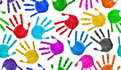 Seamless hands background