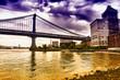 Manhattan bridge view from Brooklyn