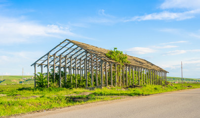 Ruined farm construction