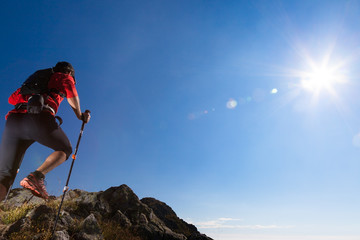 Skyrunning in mountain