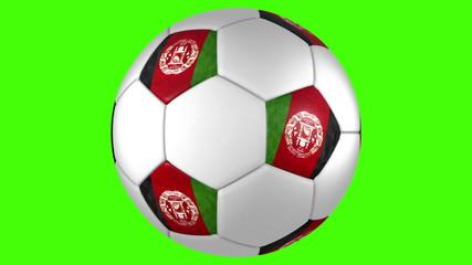 Afghanistan ball rotation on green BG