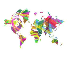 mappa del mondo astratta