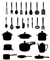 Kitchen materials set-vector