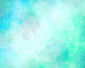 Abstract background - blue and green with circles pattern