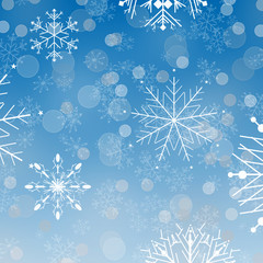 Blue winter card