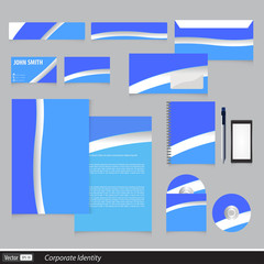 Abstract creative corporate identity
