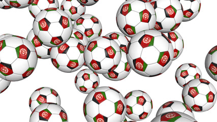 Afghanistan soccer balls on white background