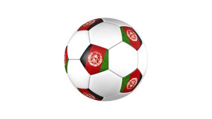 Afghanistan soccer ball on white background