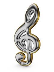 shiny treble clef