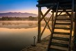 canvas print picture - Romantische Stimmung frühmorgens am See