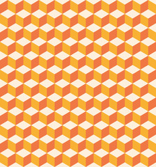 Orange cubes seamless texture