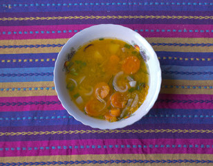 plate of vegetable soup