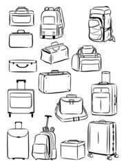 Contours of travel bags