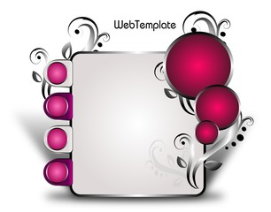 Web template white pink