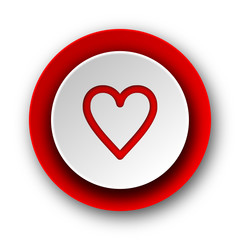 heart red modern web icon on white background