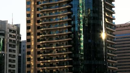Shot of modern buildings, Dubai, United Arab Emirates