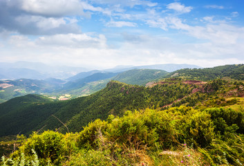 Pyrenees mountains in summer day