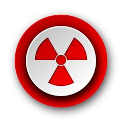 radiation red modern web icon on white background