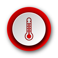 thermometer red modern web icon on white background