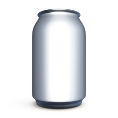 Bank for beer, soda without label for design.