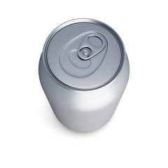 aluminum soda can isolated on white background