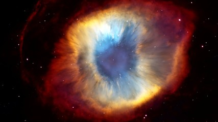 Whirling eye-galaxy in outer space