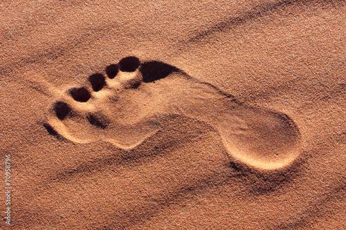 Fotobehang Zandwoestijn footprint desert