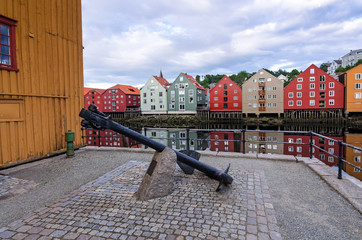Anchor monument on Trondheim coast