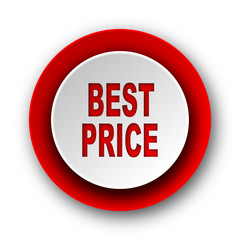 best price red modern web icon on white background