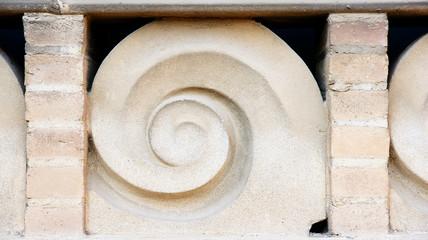 Cenefa ornamental de un edificio del hospital de Sant Pau