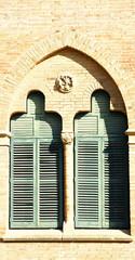 ventana en el hospital de Sant Pau, Barcelona