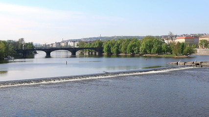 Vltava River in the morning, Prague
