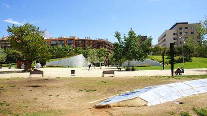 Parque de la estación del Norte en Barcelona
