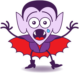 Halloween Dracula feeling scared
