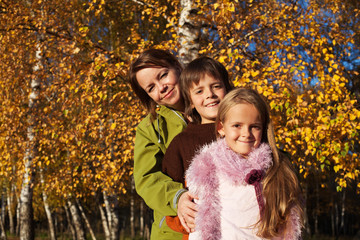 Walk in the park - family autumn portrait