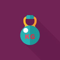 kettlebells flat icon with long shadow,eps10