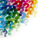 die Fragezeichen klein Papier Bunt Transparent