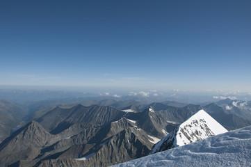 Blue sky mountain Altai