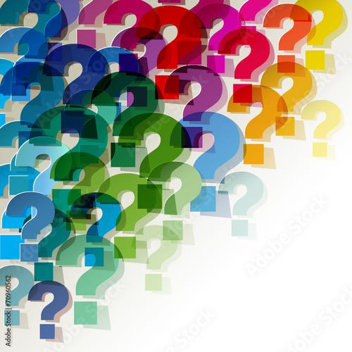 die Fragezeichen klein Papier Bunt Transparent - 70960562
